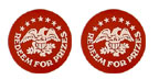"1.63"" PT-5014-RED - Redeem for Prizes/Eagle/Stars"