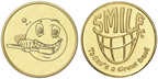 "0.984"" T984-045-073 Token - Smile Great Day/Smiley Face"